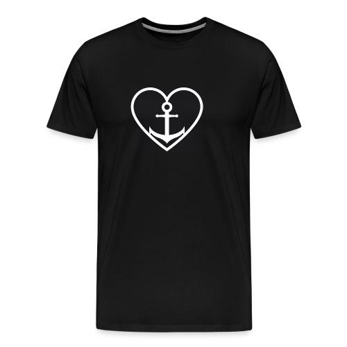 Anker Herz Liebe Küste Norddeutschland Wasser See - Männer Premium T-Shirt