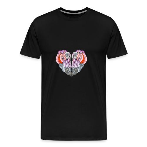 CUORE MANDALA - Maglietta Premium da uomo