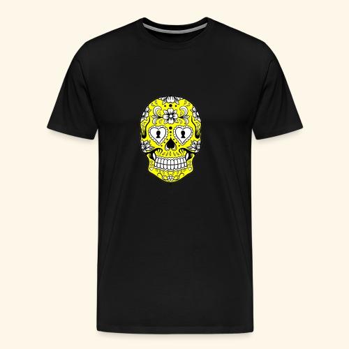 CALAVERA AMARILLA - Camiseta premium hombre