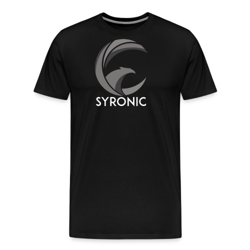 Syronic GREY with text - Männer Premium T-Shirt