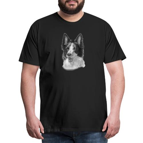 border collie 2 - Herre premium T-shirt