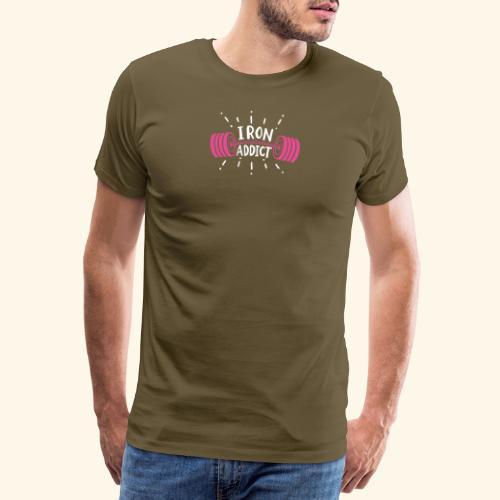 VSK Lustiges GYM Shirt Iron Addict - Männer Premium T-Shirt