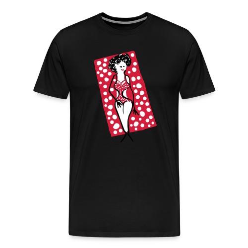 Frau_Badetuch_rot - Männer Premium T-Shirt