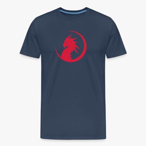 Dragon Moon Silhouette - Herre premium T-shirt