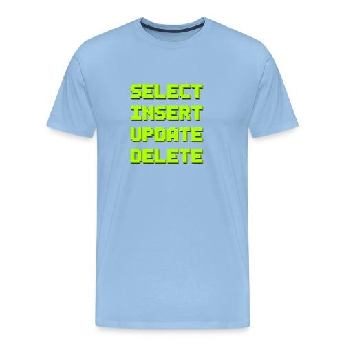 SQL pixelart black - Männer Premium T-Shirt