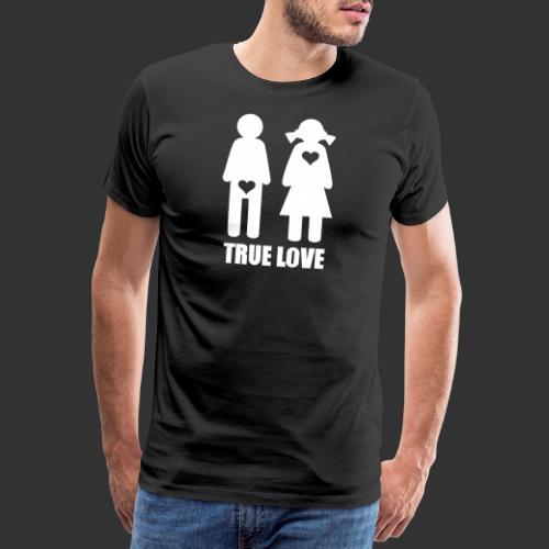 True Love - Premium-T-shirt herr