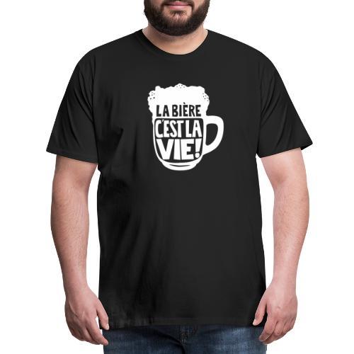 bière, la bière c'est la vie - T-shirt Premium Homme