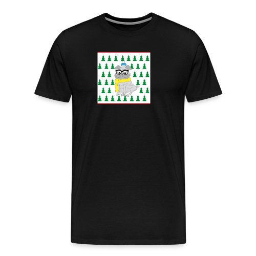 Hipster Mops - Männer Premium T-Shirt