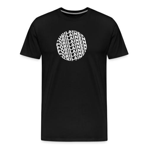 Black pori - Miesten premium t-paita