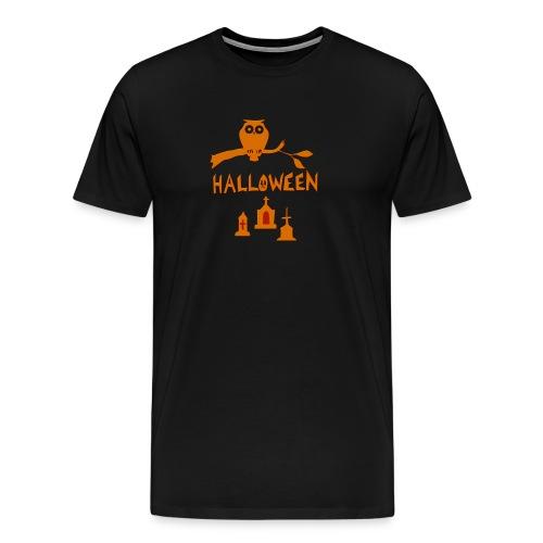 Spooky Halloween mit Eule - Männer Premium T-Shirt