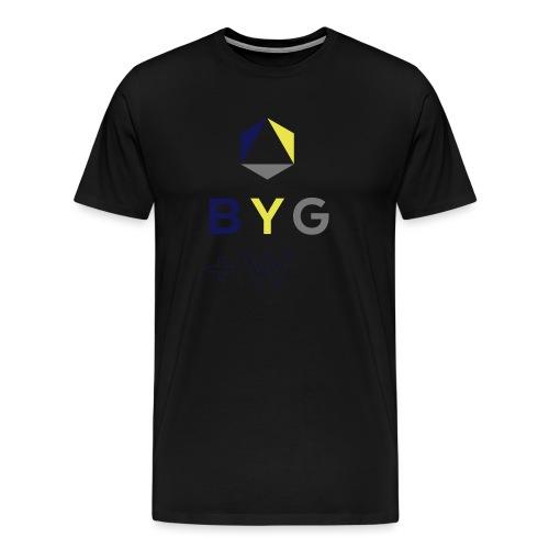 BYG+White Logo Hoodie - Men's Premium T-Shirt