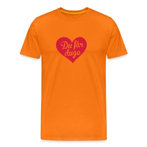 Ekte kjærlighet - Det norske plagg - Premium T-skjorte for menn