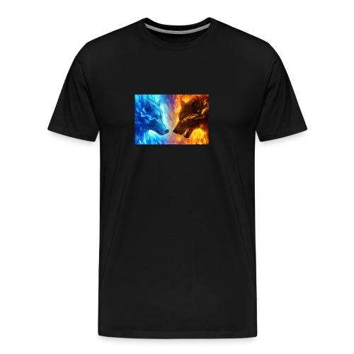vuur water wolf - Mannen Premium T-shirt