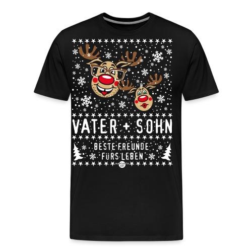 105 Hirsch Vater und Sohn beste Freunde fürs Leben - Männer Premium T-Shirt