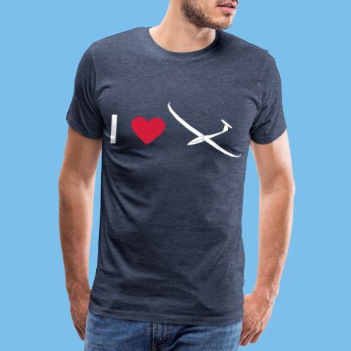 Ich liebe gleiten Segelflieger Segelflugzeug - Männer Premium T-Shirt