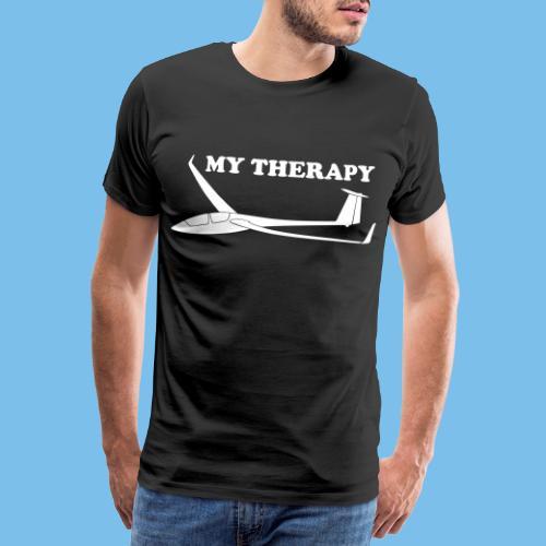 Therapie Segelflieger gleiten Segelflugzeug - Männer Premium T-Shirt