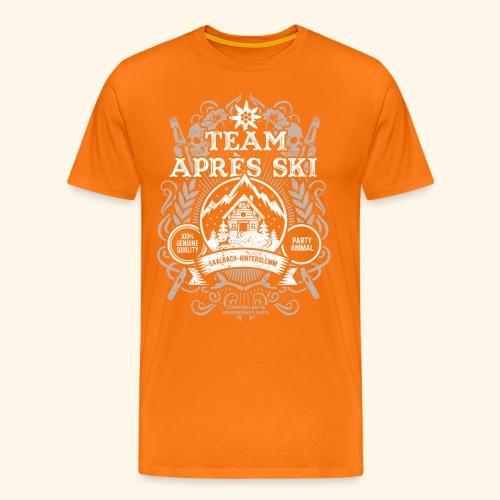 Saalbach-Hinterglemm Apres Ski T Shirt   Party - Männer Premium T-Shirt