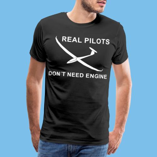 Pilot Segelflieger gleiten Segelflugzeug Geschenk - Männer Premium T-Shirt