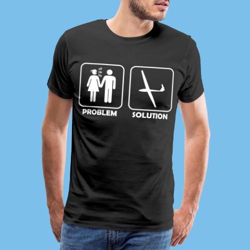 Segelflieger Problem lustiges Motiv Segelflugzeug - Männer Premium T-Shirt