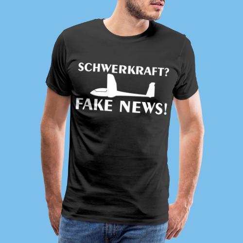 Schwerkraft Segelflieger Segelflugzeug gleiten - Männer Premium T-Shirt