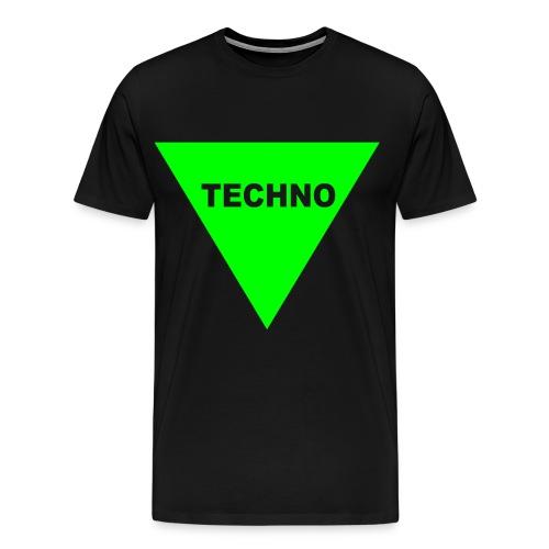 Techno t shirt glow effekt Festival Geschenk - Männer Premium T-Shirt