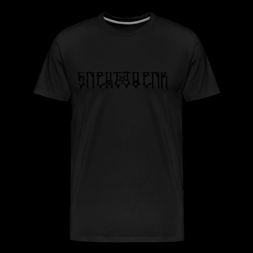 BLACK SNERTJOENK BLACK PENTAGRAM - Men's Premium T-Shirt