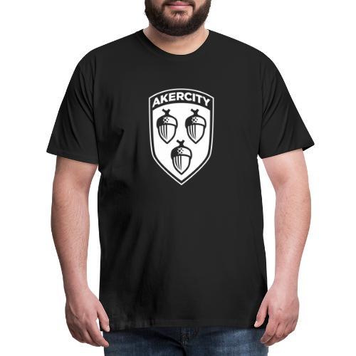Akercity Schild 1 Kleur B - Mannen Premium T-shirt