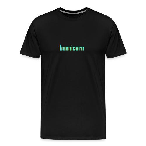 Triple colour Bunnicorn embroidery - Men's Premium T-Shirt