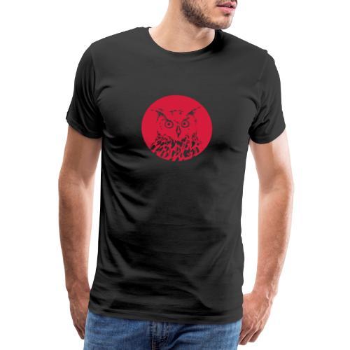eule rund - Männer Premium T-Shirt