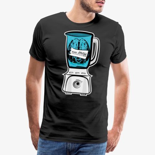 Hirn im Mixer - neon blau - Männer Premium T-Shirt