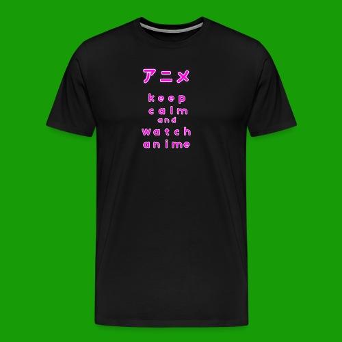 Keep Calm And Watch Anime Manga Motiv Geschenkidee - Männer Premium T-Shirt