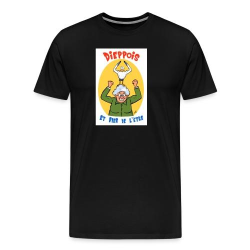 t shirt polete fier d'etre dieppois - T-shirt Premium Homme
