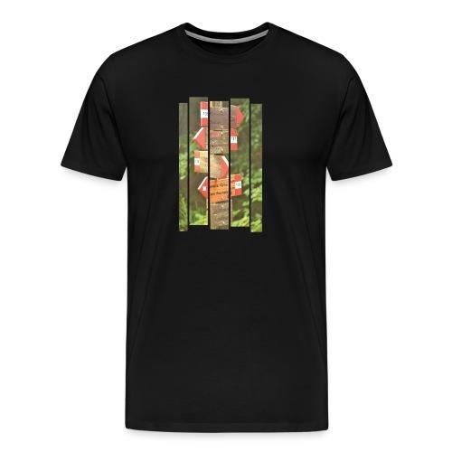 De verwarde hike - Mannen Premium T-shirt