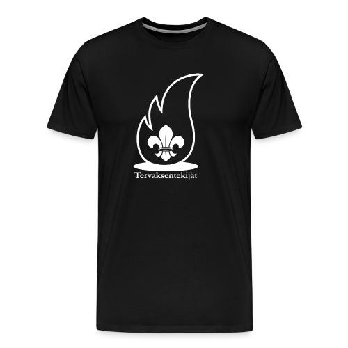 Valkoinen lieska - Miesten premium t-paita