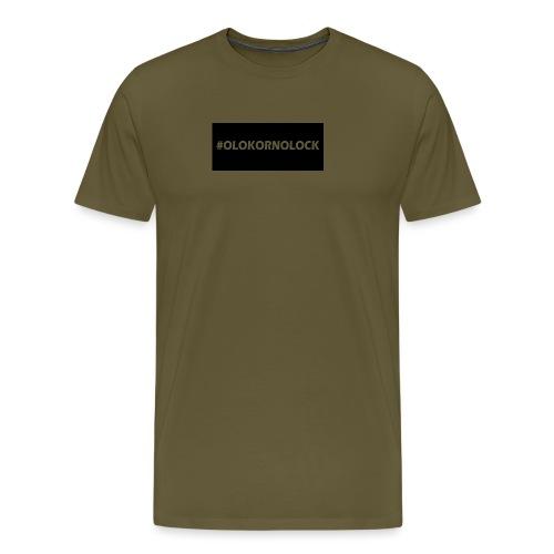 #OLOKORNOLOCK - Premium-T-shirt herr