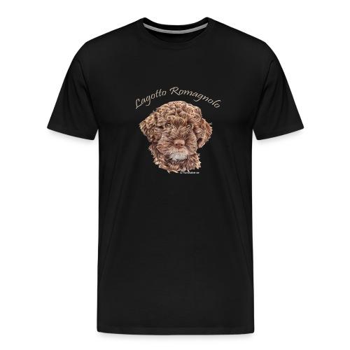 Lagotto Romagnolo med text - Premium-T-shirt herr