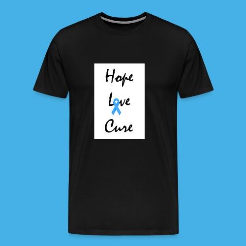 hope love cure hd - Men's Premium T-Shirt