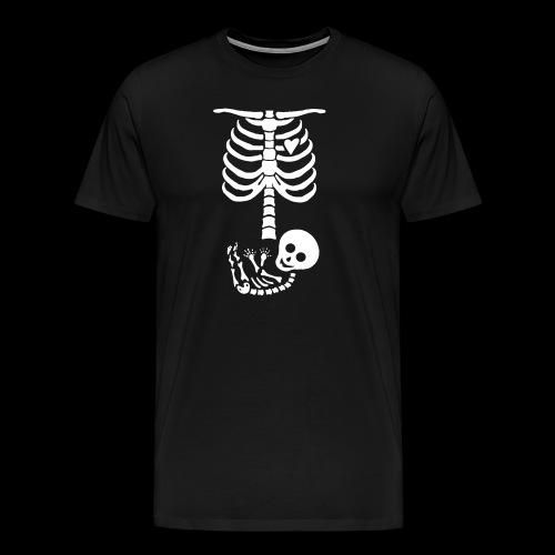 Baby Skelett US Version Maternity / Schwangerschaf - Männer Premium T-Shirt