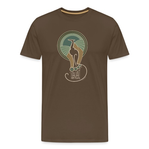 italian sighthound jugendstil 6 - Mannen Premium T-shirt
