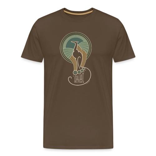 italian greyhound jugendstil 6 - Mannen Premium T-shirt