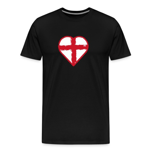 Heart St George England flag - Men's Premium T-Shirt