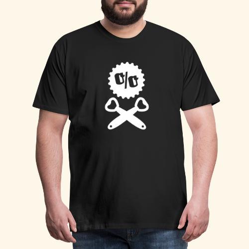Bier T Shirt Design Piratenflagge - Männer Premium T-Shirt