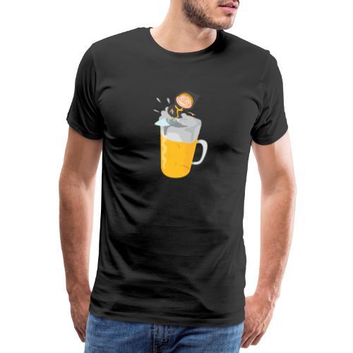 Münchner Kindl und die Maß Bier - Männer Premium T-Shirt