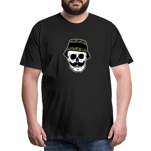 Skalle Camo - Premium T-skjorte for menn