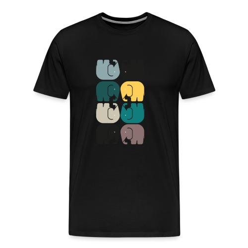 elefanterna - Premium-T-shirt herr