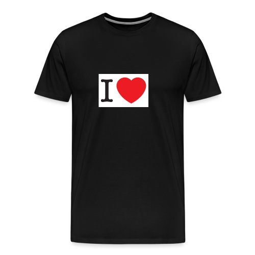 i love illustration with heart - Mannen Premium T-shirt