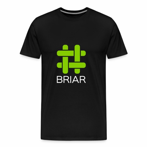 Briar Logo White - Men's Premium T-Shirt