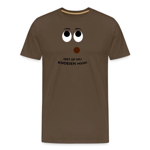Grappige Rompertjes: Niet op mij knoeien hoor - Mannen Premium T-shirt