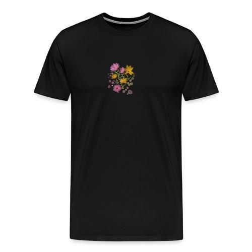 Wasserfarbe Blumen Muster mädchen - Männer Premium T-Shirt