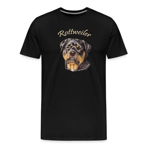 Rottweiler med rasnamn - Premium-T-shirt herr